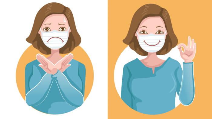 Deutlich sprechen und freundlich wirken trotz Maske